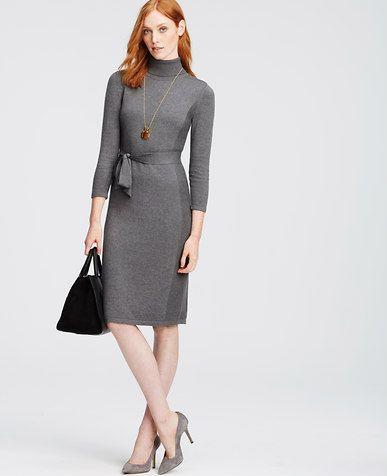 Image of Turtleneck Sweater Dress