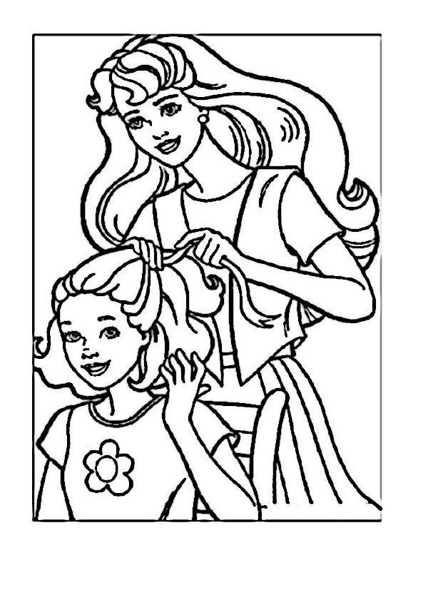 barbie coloring pages dresser | 160 best images about Barbie Coloring Pages on Pinterest ...
