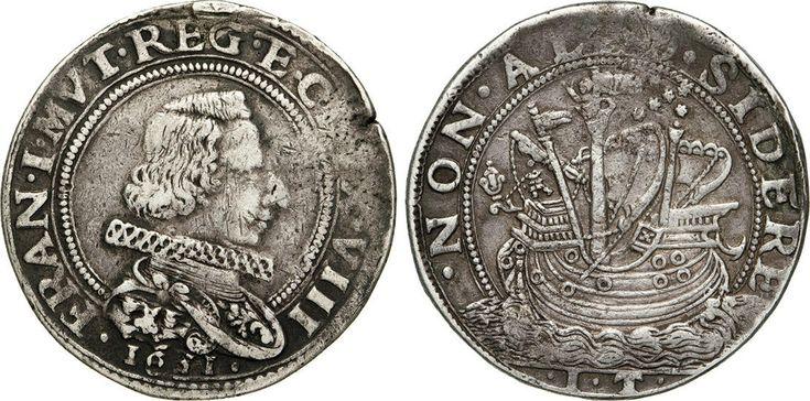 NumisBids: Numismatica Varesi s.a.s. Auction 65, Lot 447 : MODENA - FRANCESCO I D'ESTE (1629-1658) Mezzo Ducatone 1631. D/...