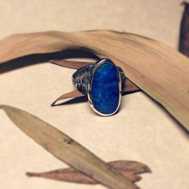 Opal ring, silver #jewelry #finejewellery #opal #ring #silver #silverjewellery #jewellerydesign #creativityfound #vsco #vscocam #instajewellery #inspiration #dbJewelStudio #instamood