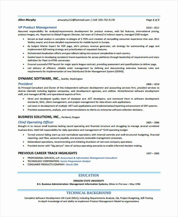 Google Product Manager Resume Best Of 10 Product Manager Resume Templates Pdf Doc In 2020 Health Information Management Job Resume Samples Good Resume Examples