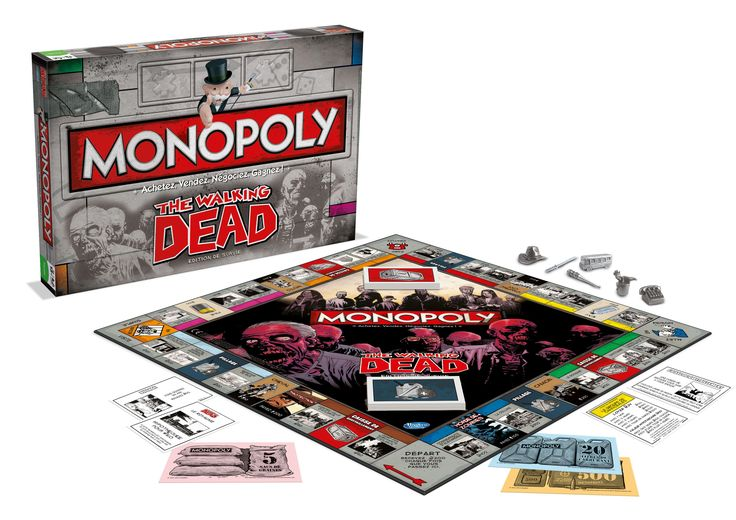 The Walking Dead Monopoly, Zombie Board Game. https://www.amazon.co.uk/gp/product/B00D8U2NCW?ie=UTF8&camp=1634&creativeASIN=B00D8U2NCW&linkCode=xm2&tag=zomsho-21