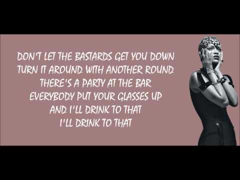 ▶ Rihanna - Cheers (Drink to That) Lyrics Video - YouTube