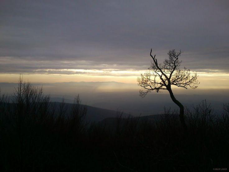Západ slnka z Jánošíkovho stola
