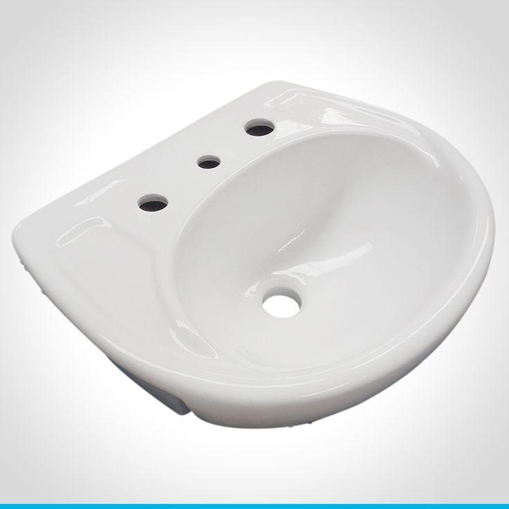 Brilliant Madison Round 55cm SemiRecessed Basin  Lecico Bathroom Suites