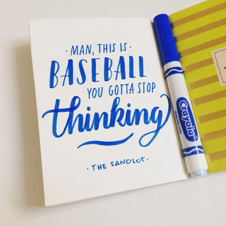 Mini proyecto/ Frases de mis pelis favoritas ✏️ THE SANDLOT/HERCULES VIGILA #thesandlot #baseball #90s #moviequotes #handmade #handtype #handlettered #handlettering #handbrush #lettering #moderncalligraphy #mechudiamante #crayola