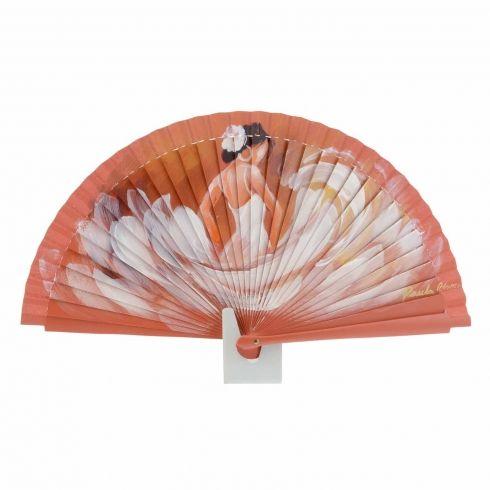 Abanico naranja de bailarina flamenca