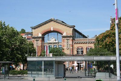 the Batthyany Square Market from outside