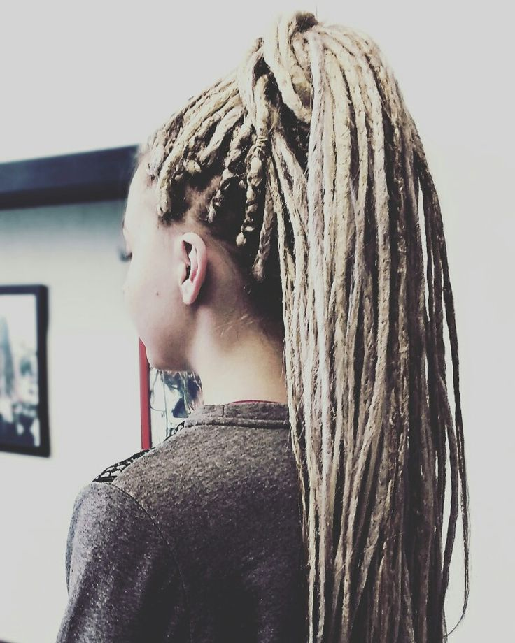 Beautiful hair extensions  #blond #hair #dreads #dreadlocks