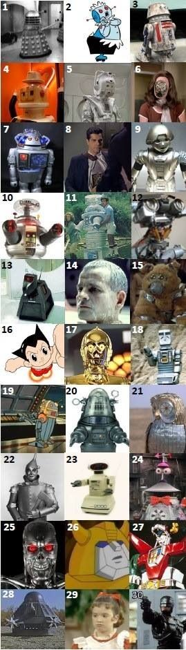 ROBOTS - can you name these robots that were on TV and at the movies in the 70s and 80s?