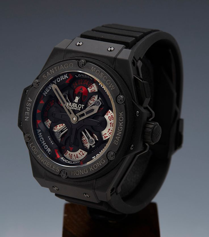 Hublot Black Ceramic Big Bang King Power Unico GMT Wristwatch Ref 771.CI.1170.RX 2
