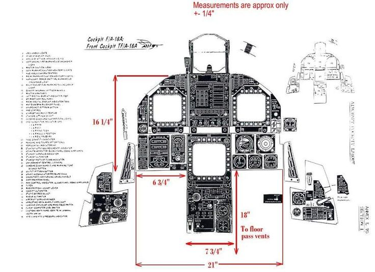 F 18 Cockpit Layout ... (HornetHQ) ...