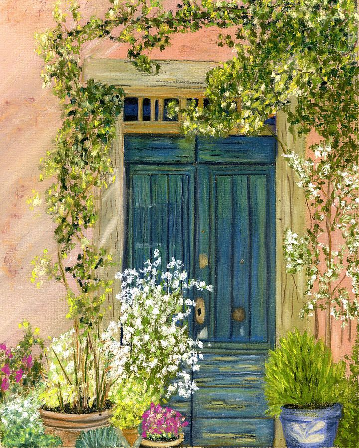 Tuscan Blue Door by Sarah Dowson & 67 best Doors images on Pinterest | Entryway Windows and Front doors