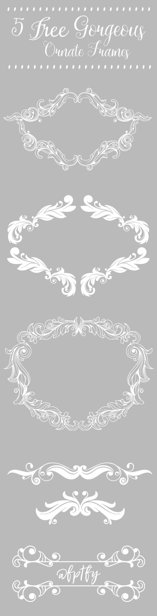5 Free Gorgeous Large Ornate Frames-CU-ok! - Free Pretty Things For You
