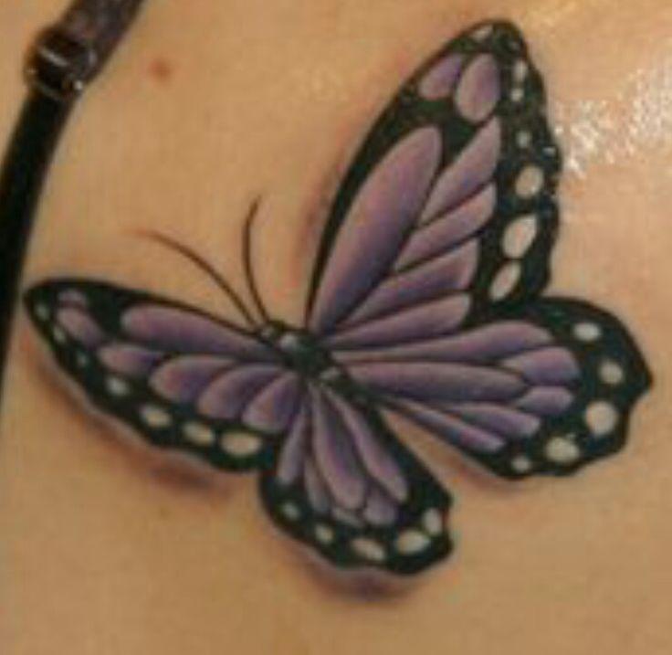 Purple butterfly wrist tattoo for Purple butterfly tattoo