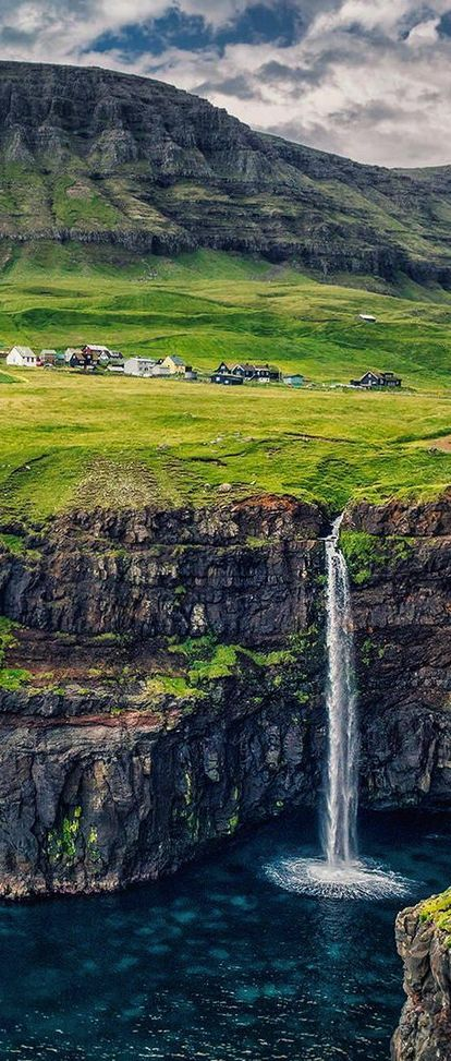Gasaldalur Fall, Faroe Islands, North Atlantic, Denmark