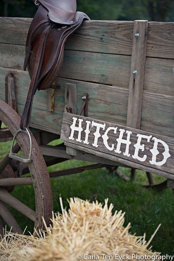 Country Wedding Sign. Hitched Sign. Recycled Wood Signs. Receptions Signs. Wedding Props. Outdoor Wedding Decorations for-the-home