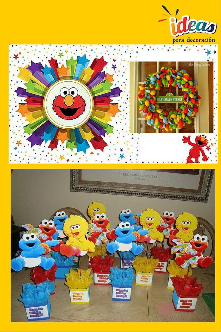 ¡No te pierdas esta decoración de plaza sésamo para la #Fiesta de los más pequeños!