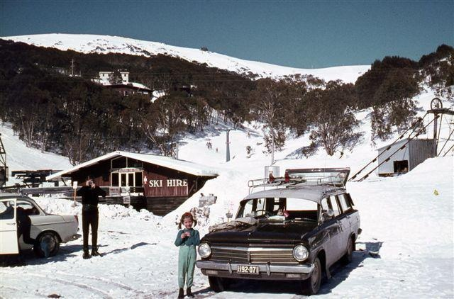 Snow Australia - Falls Creek early 1970s.  Pic from the Falls Creek archives #snowaus