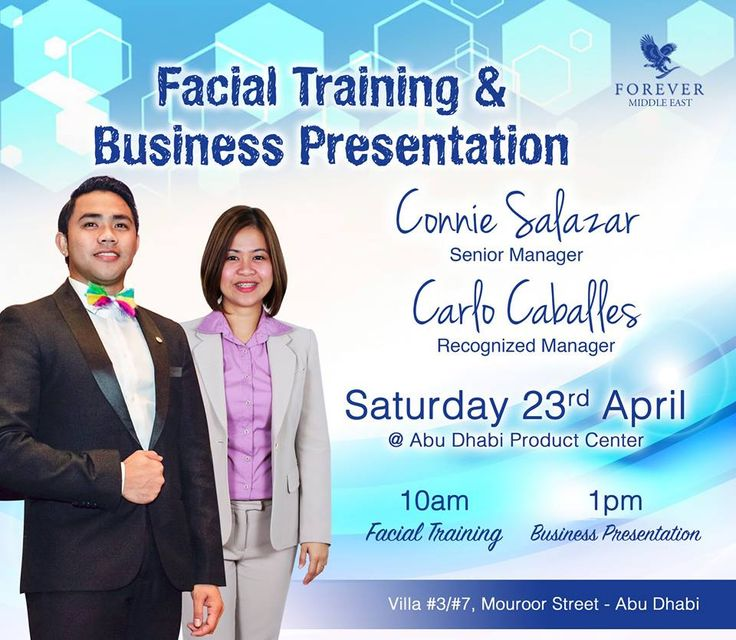 Facial Training \ Business Presentation by Connie Salazar ~ Senior - business presentation