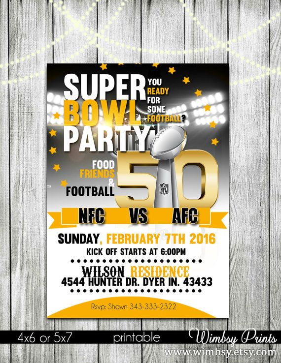 135 best images about Football Printables – Superbowl Party Invitations