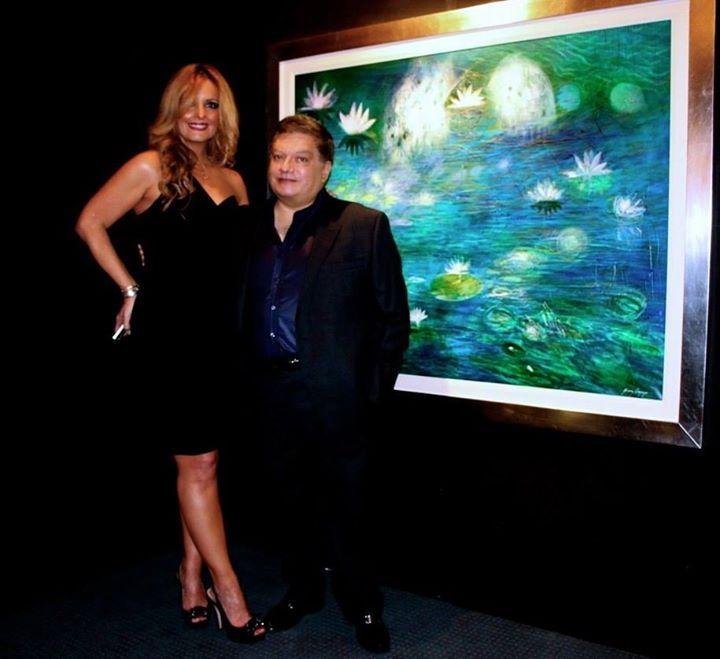 con Jose Armando Arias en nuestra exposición de Alex Gomez Oropeza en el restaurante del Lago en Chapultepec