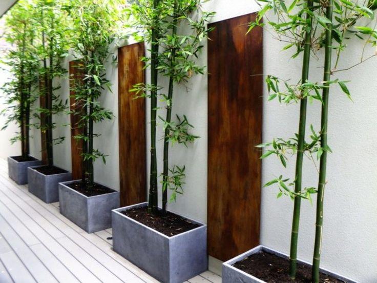 jardin contemporain deco bambou