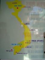 Mapas turísticos de Vietnam