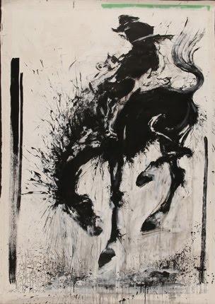 Richard Hambleton - street artist   000. Horse and rider