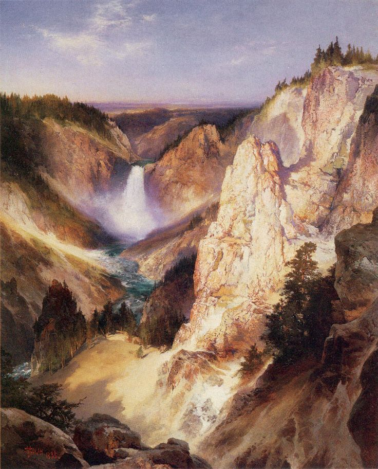 Great Falls of Yellowstone, Thomas Moran (18371926