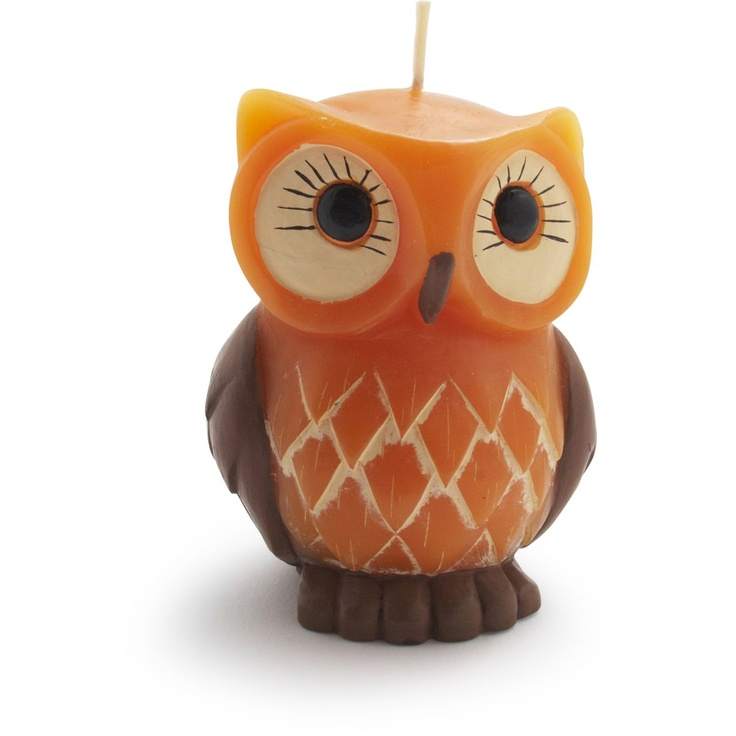 Owl Stuff For The Home Part - 48: Owl Candle | Sur La Table