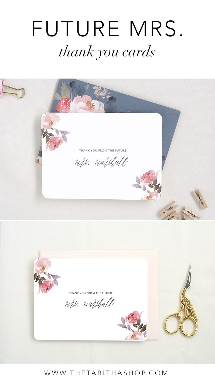 Wedding Gift Thank Yous: Wedding Thank Yous. Newly Engaged Gift. Personalized