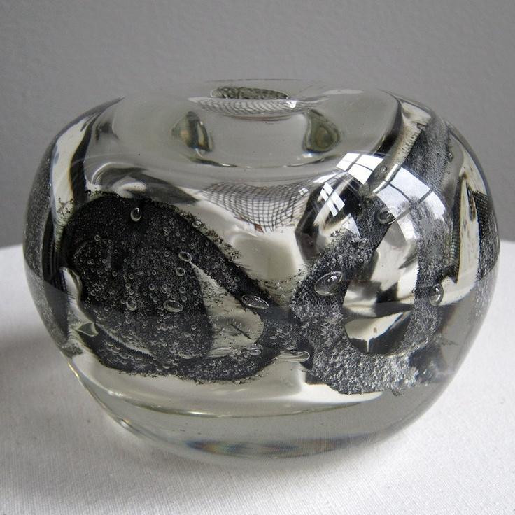 Scandinavian Art Glass Vase Benny Motzfeldt 1970s Norway. $76.00, via Etsy.