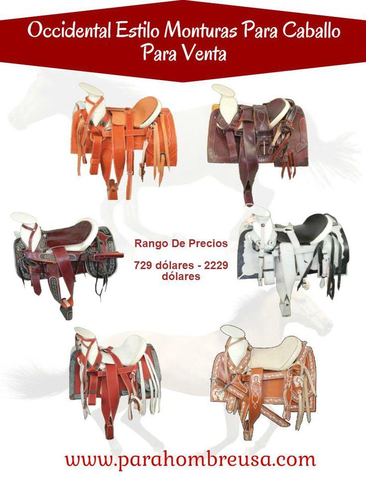 Parahombreusa ofertas diferente estilos de occidental monturas para caballo con varios colores.