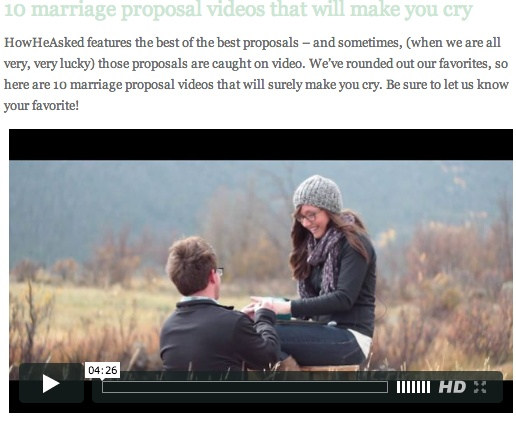 10 marriage proposal videos that will make you cry from: http://howheasked.com/10-marriage-proposal-videos-that-will-make-you-cry