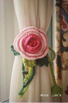 Elegante sujetador de cortinas a crochet ~ Mimundomanual