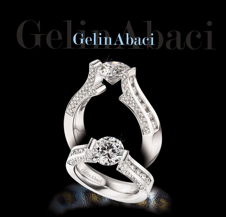 Gelinabaci White Gold And Diamond Bridal Rings Exclusively At