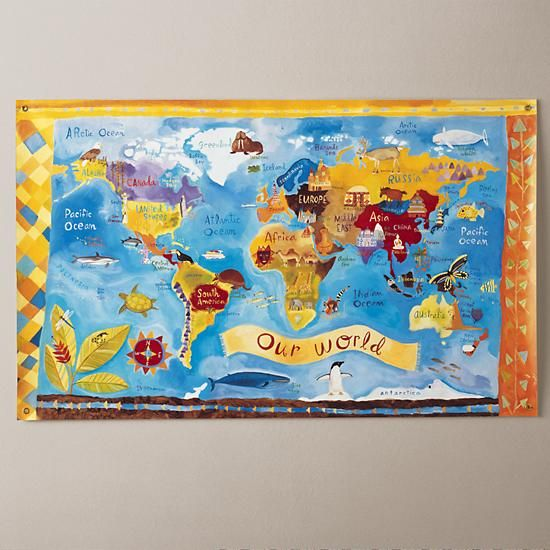 45 best gifts for raising global kids images on pinterest for kids world map canvas from the land of nod gumiabroncs Image collections