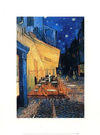 Cafe Terrace at Night, 1888 Vincent Van Gogh #impressionism