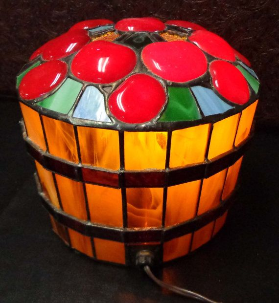 Stained Glass Apple Basket Light by ArtifactEmporium on