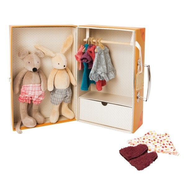 My Little Armoire Stuffed Animal Dress-up Suitcase