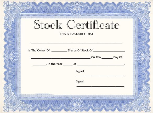 Stock Certificate Templates 13 Free Word Pdf Formats Free Printable Certificate Templates Free Certificate Templates Stock Certificates