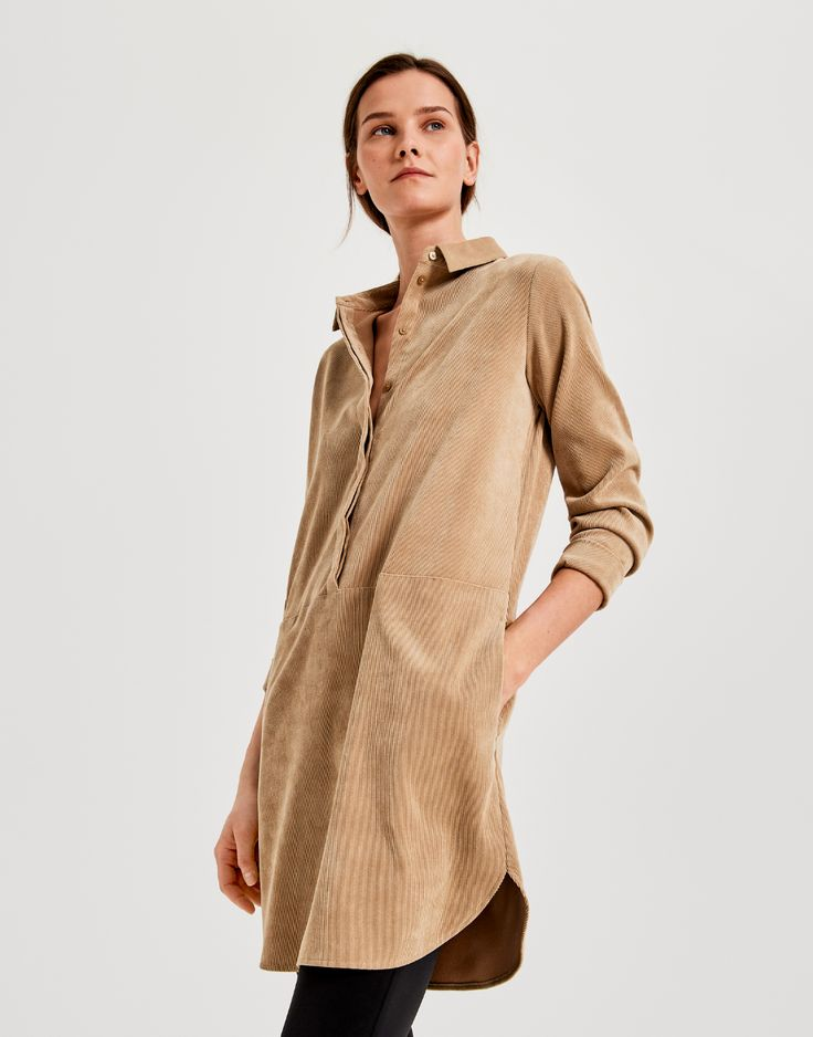 Kleid Wes cord braun online bestellen | OPUS Online Shop ...