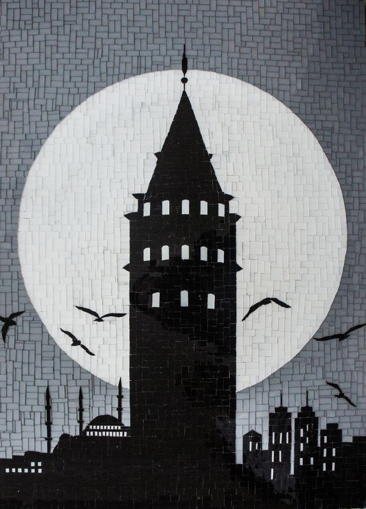 #Galata Kulesi / Galata Tower by Altınok 60cm x 84cm #Cam #Mozaik / Glass #Mosaic  #gallerymak #altinok #istanbul #osmanlı #ottoman #heykel #sculpture #contemporarysculpture #çağdaşsanat #modernart #contemporaryart #contemporary #turkey #painting #sanat #sanatçı #artcollector #londonart #dubaiart #artlovers #masterpiece #arte #artgallery #finearts #dailyart