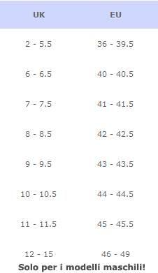 Foto: Sono arrivate le HOGAN! Corri su www.luxyuu.it ! Non sapete come scegliere la taglia? E' facilissimo: i modelli maschili delle calzature Hogan hanno una numerazione inglese (UK o GB).  I modelli femminili hanno invece taglie italiane. Ed ecco la taglia della conversione numeri inglesi con numeri italiani... Ad esempio il 43 italiano corrisponde a un 9 inglese.