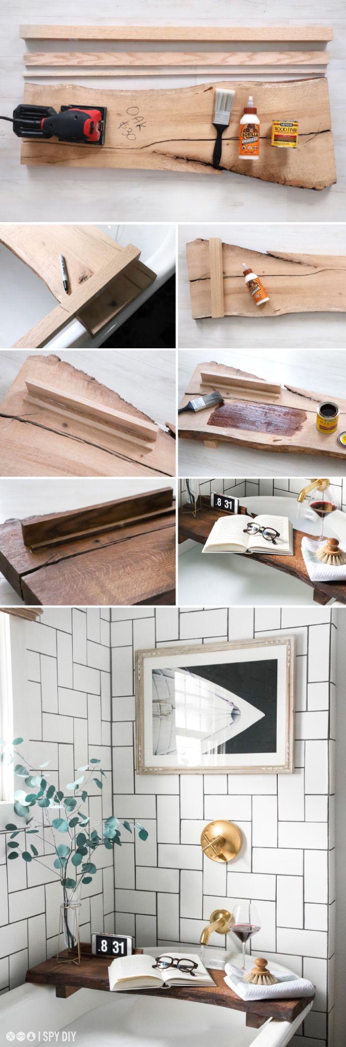» MY DIY   Live Edge Bath Board