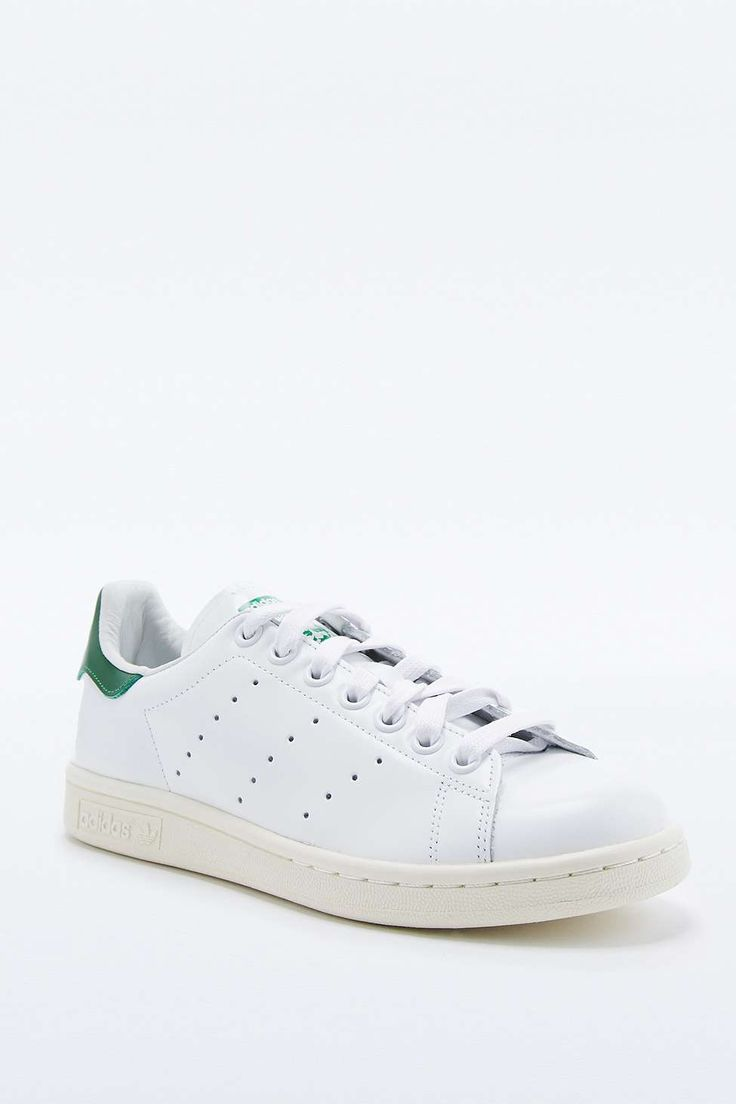 adidas Originals Stan Smith White & Green Trainers
