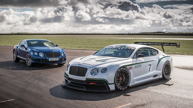 Bentley Continental GT3 and GT Speed picture parked on race track