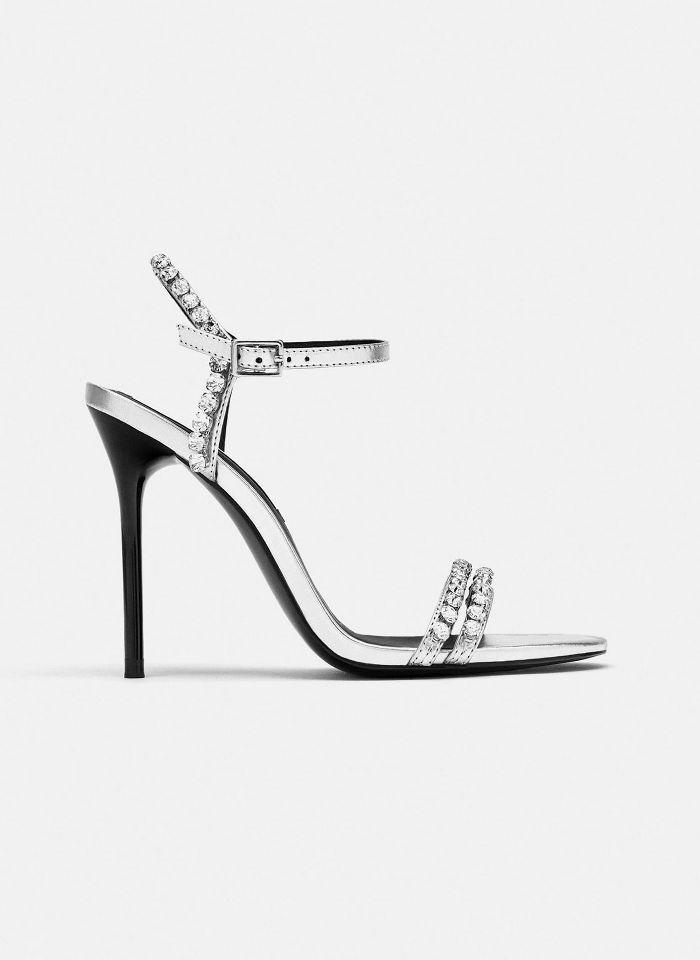 Zara Sparkly Heeled Sandals | Sparkly