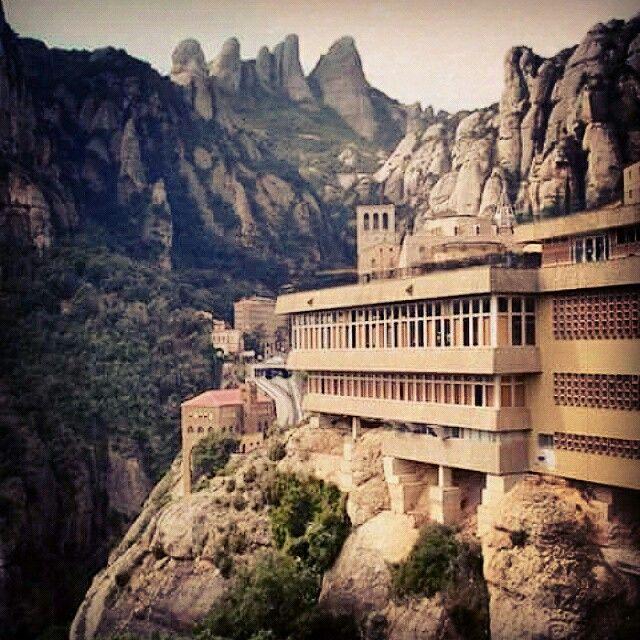 Spagna,Barcellona, Santa Maria de Montserrat monastero benedettino
